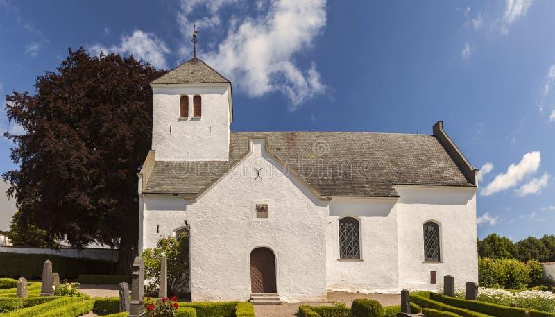 Tosterup witte kapel royalty-vrije stock afbeeldingen