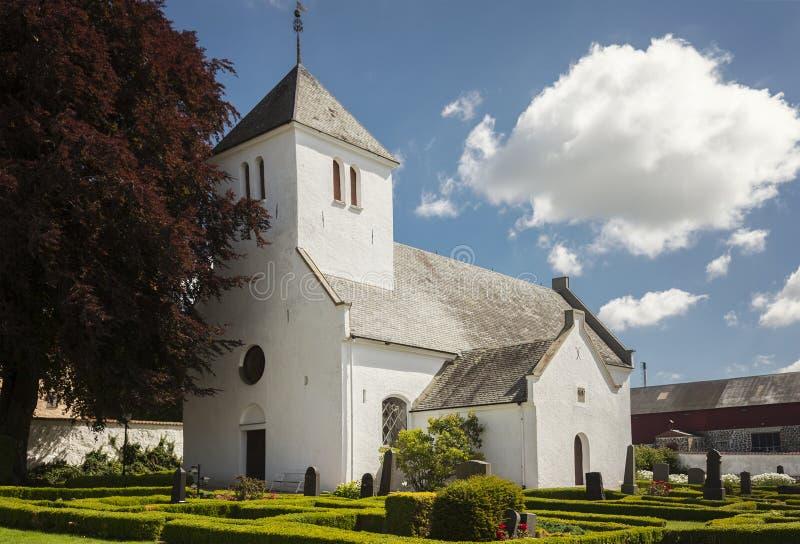 Tosterup witte kerk stock foto's