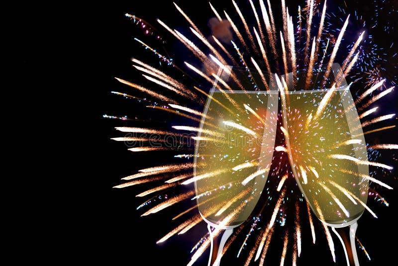 Tosti un nuovo anno fotografia stock libera da diritti