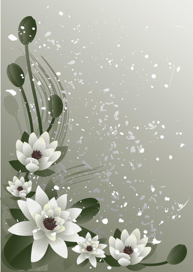 Tot bloei komende lotusbloem royalty-vrije illustratie