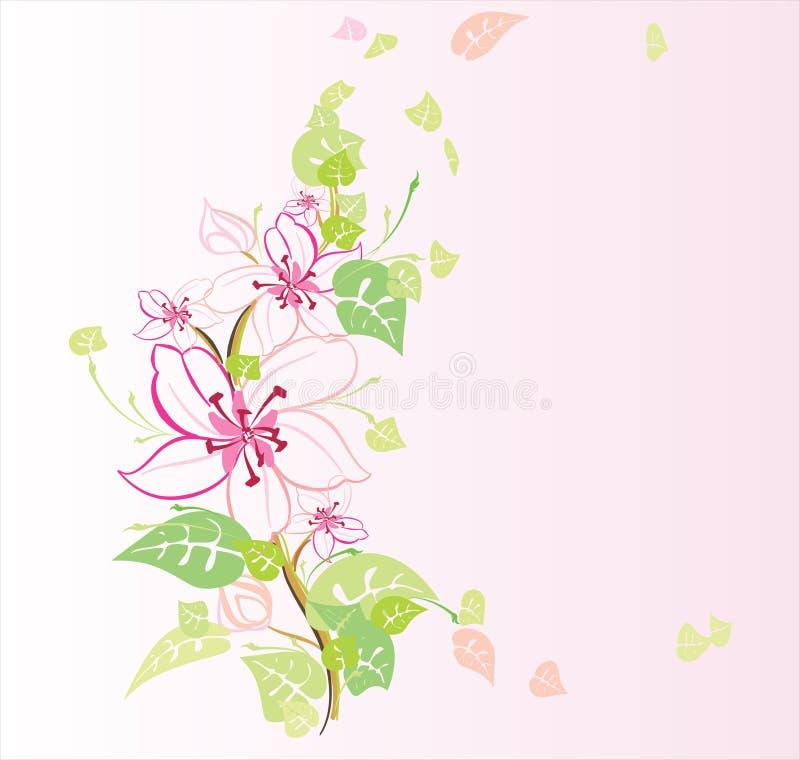 Tot bloei komende tuin royalty-vrije illustratie