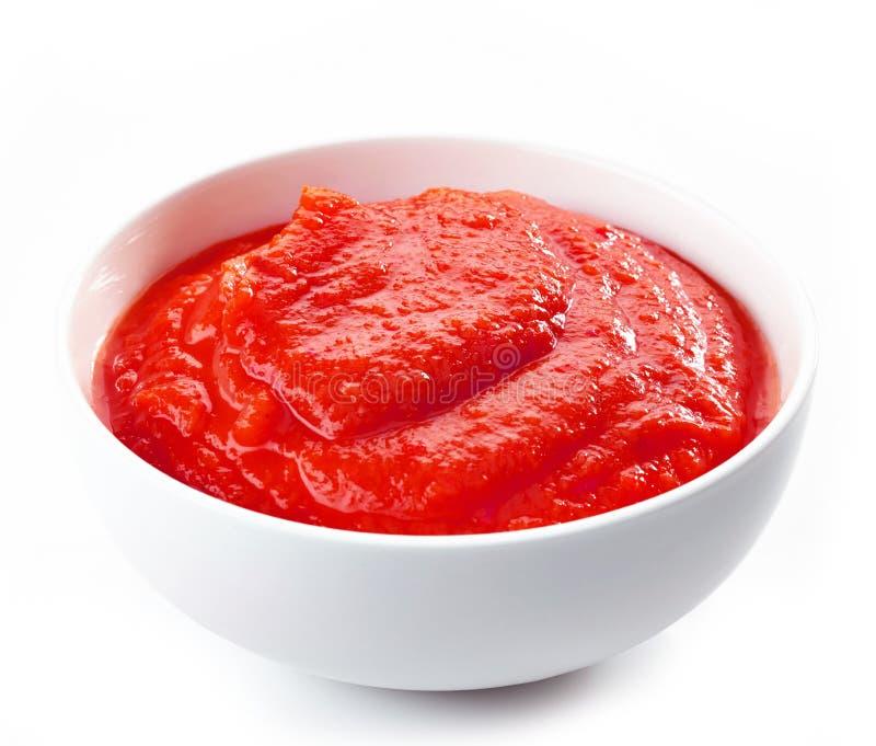 Tot puree gemaakte tomaten royalty-vrije stock afbeelding