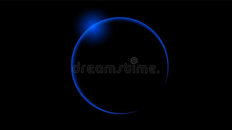Total blue solar eclipse royalty free illustration