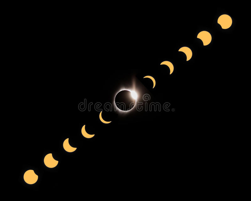 2017 total eclipse captured in John Day in Oregon royalty free stock images