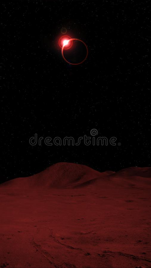Total Eclipse of moon from the moon royalty free stock images