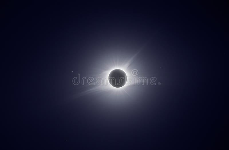 TOTAL ECLIPSE SUN. WITH CORONA royalty free stock image