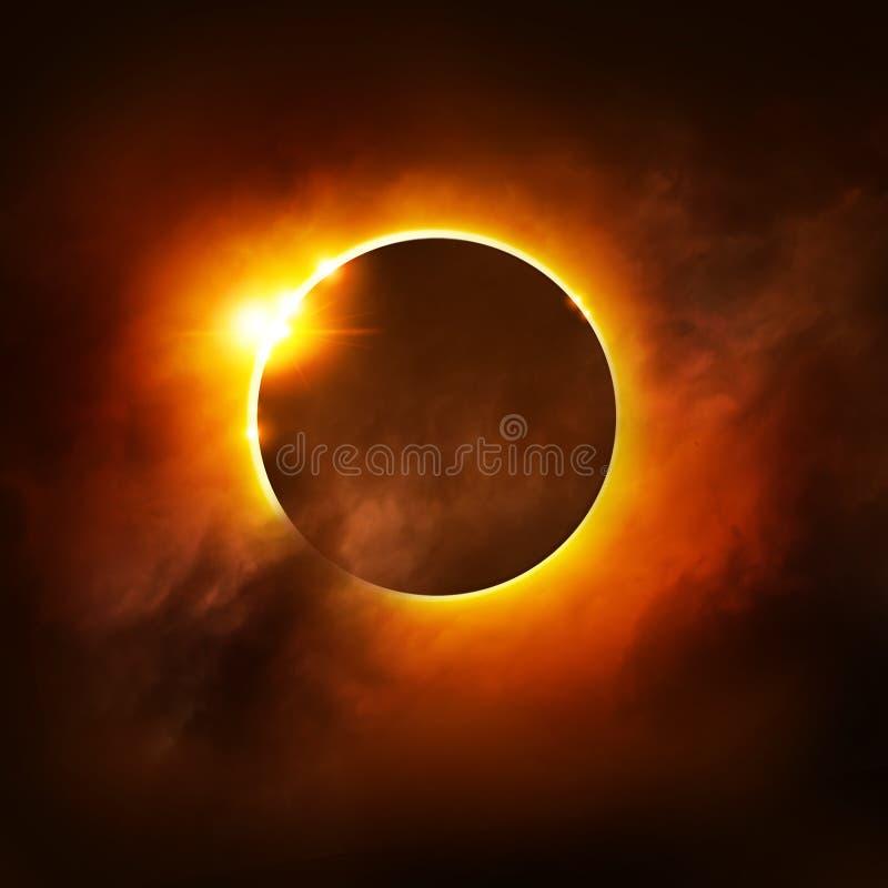 Total Eclipse vector illustration
