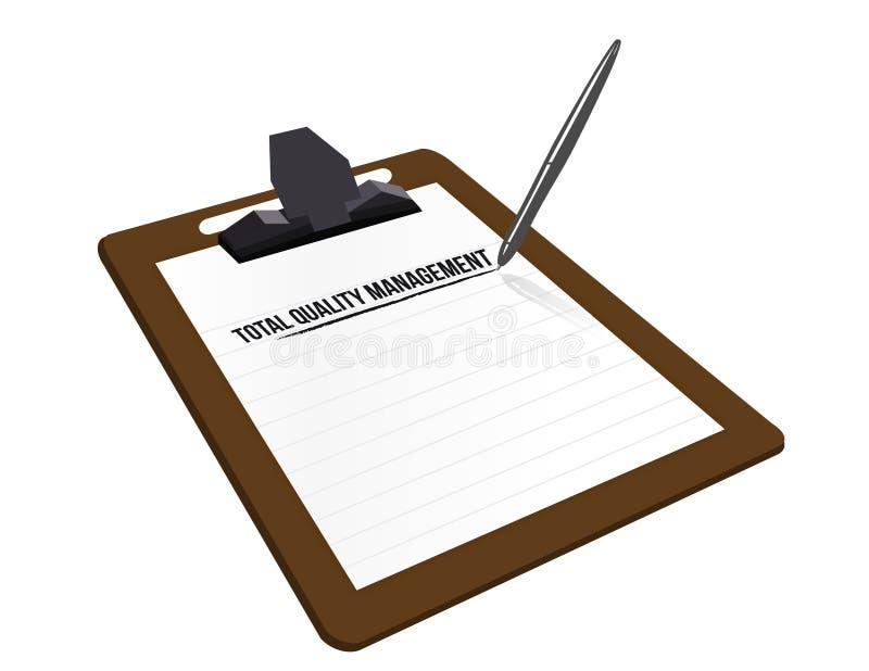 total för kvalitet för clipboardillustrationadministration stock illustrationer