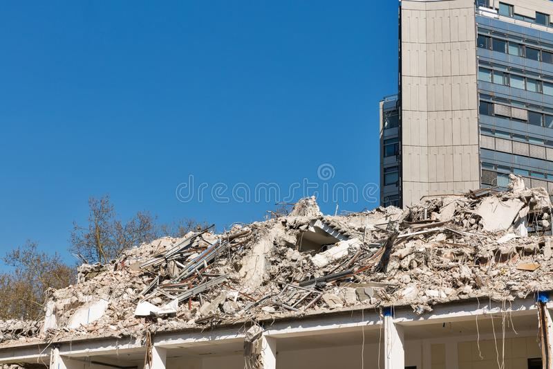 House demolition in Berlin, Germany royalty free stock photos