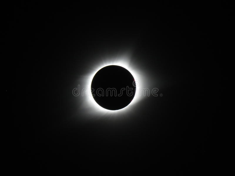 Total Lunar Eclipse. 2017 Illinois royalty free stock images