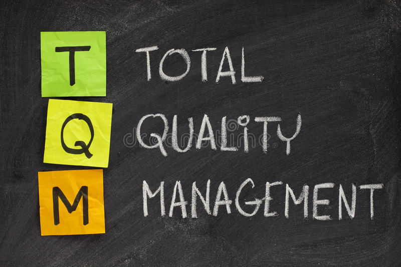 Total quality management royalty free stock images