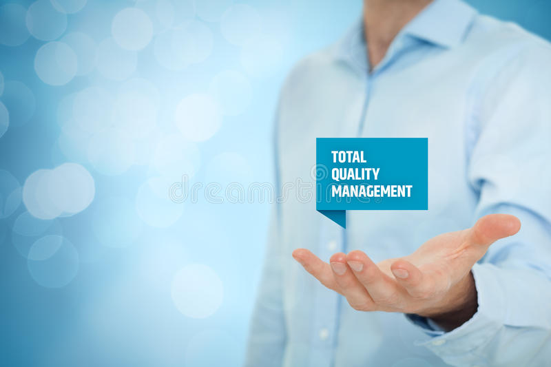 Total quality management royalty free stock image