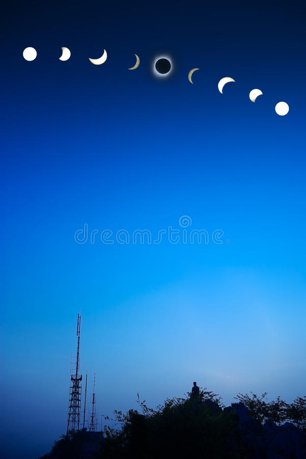 Total solar eclipse. Of 2009 july 22 royalty free stock image