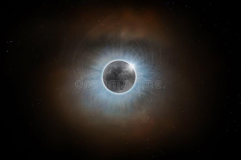 Total Solar Eclipse royalty free illustration