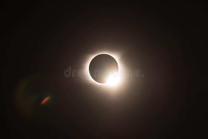 Total solar eclipse 2017, seem from Helen Georgia. Shot with 600mm lens royalty free stock images