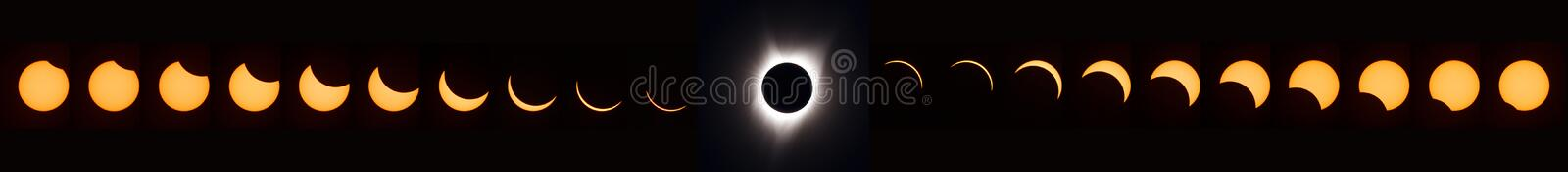 Total solar eclipse 2017 stock illustration