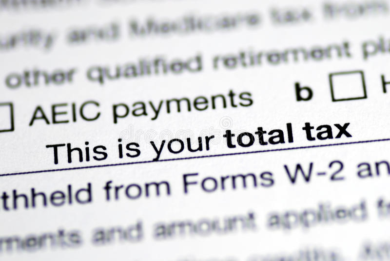 Download Total Tax In The Income Tax Return Stock Image - Image of deductions, 1040: 12835261