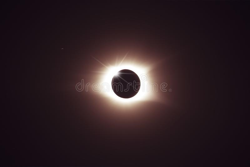 Totale Finsternis der Sonne stockbild