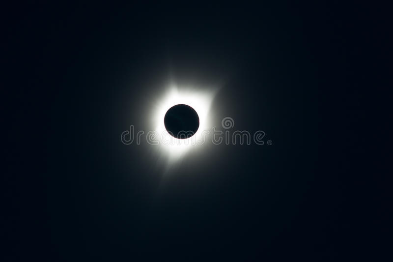 Totale Sonnenfinsternis lizenzfreies stockfoto
