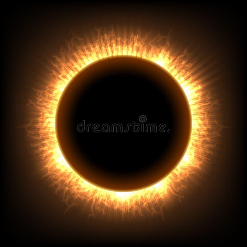 Totale volle maan zonneverduistering royalty-vrije illustratie