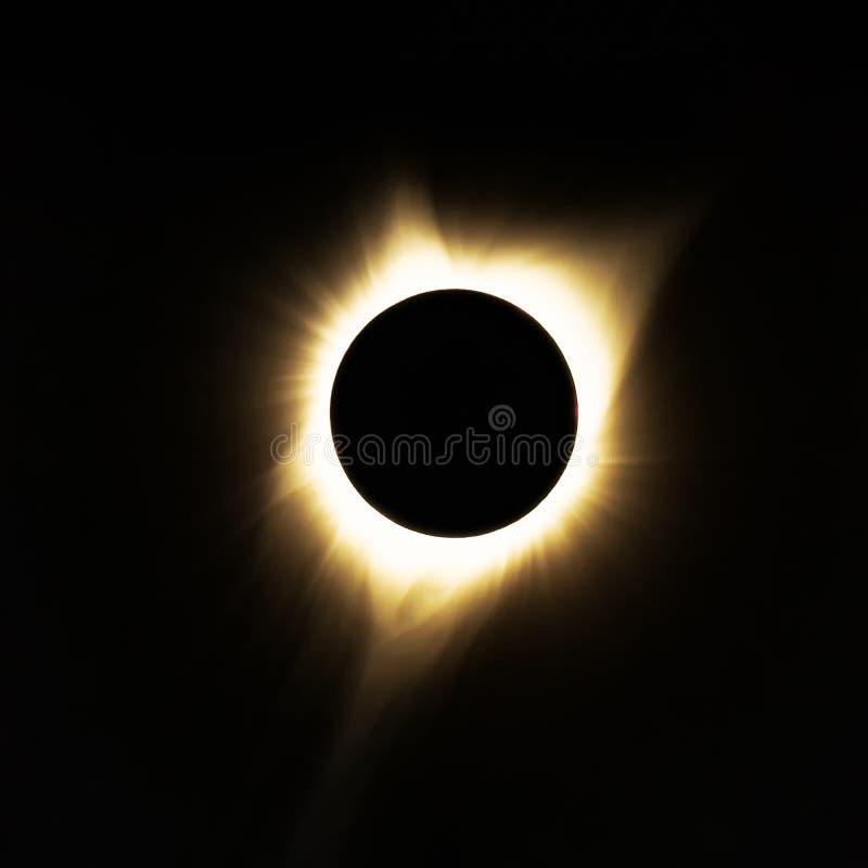 Totale Zonneverduistering, Oregon, de V.S. stock afbeeldingen