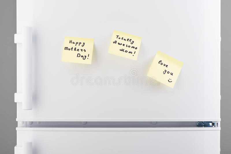 Totally awesome Mom, Happy Mothers Day, love you notes royalty free stock images