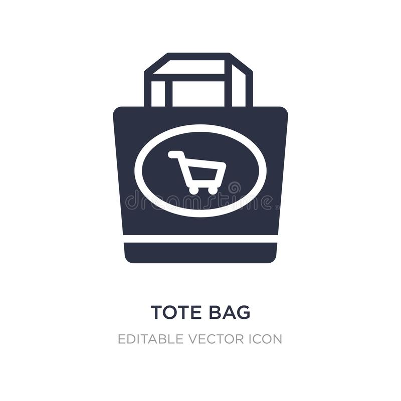Tote bag icon on white background. Simple element illustration from Commerce concept. Tote bag icon symbol design royalty free illustration