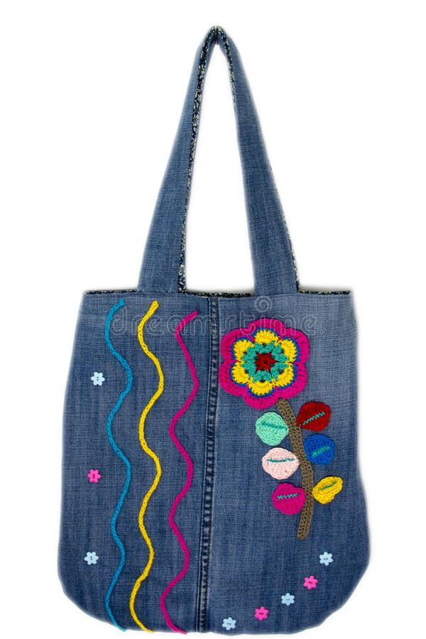 Free Tote Bag Jeans Royalty Free Stock Photo - 113092275