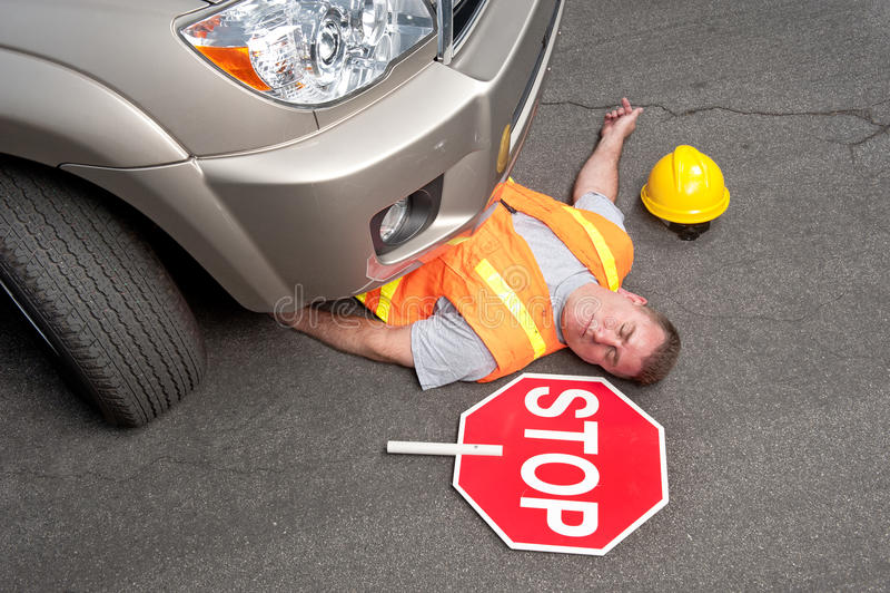 Tote Straßenarbeitskraft stockfoto