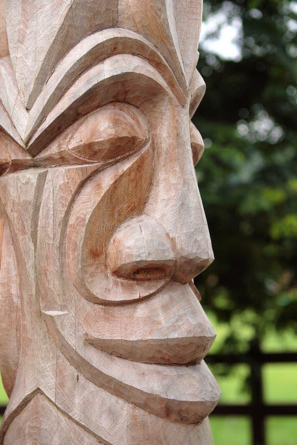 totem деревянный стоковое изображение