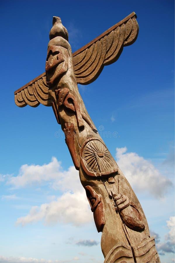 totem полюса деревянный стоковые фото