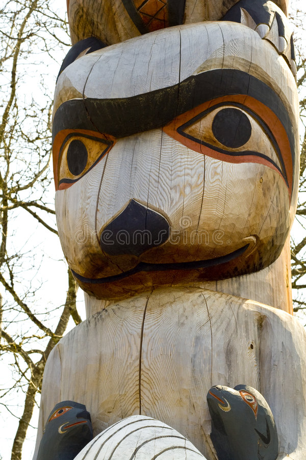 totem полюса стоковые фотографии rf