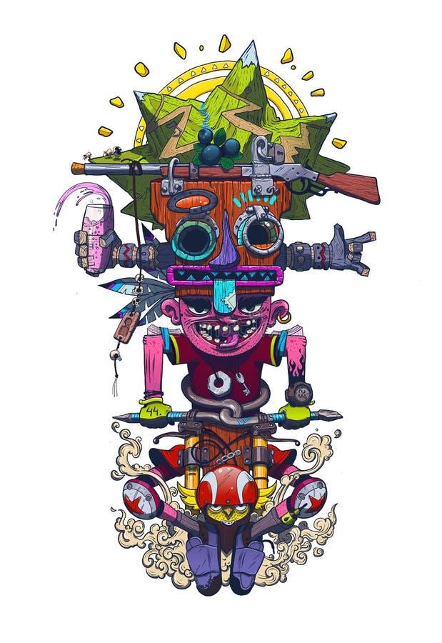 totem stock illustrationer