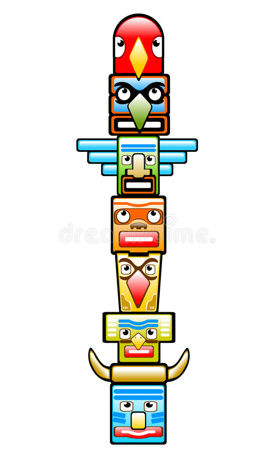 totem stock illustrationer
