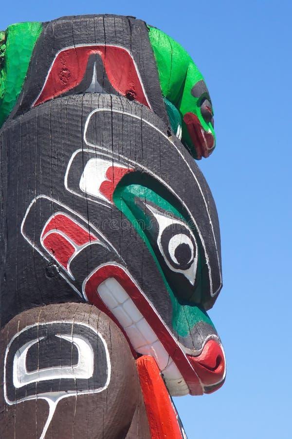 Totem. Aboriginal totem in the Inner Harbor in Victoria, BC stock photography