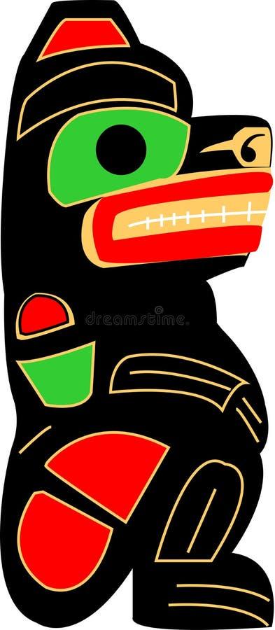 Totem-Bär lizenzfreies stockfoto