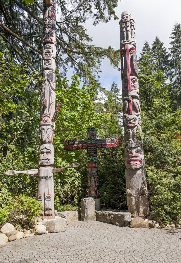Totem - Canada fotografia stock
