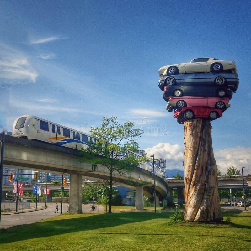 Totem du transport AM Vancouver, Canada images libres de droits