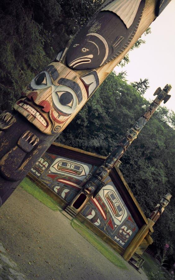 Totem e Camera del clan fotografia stock