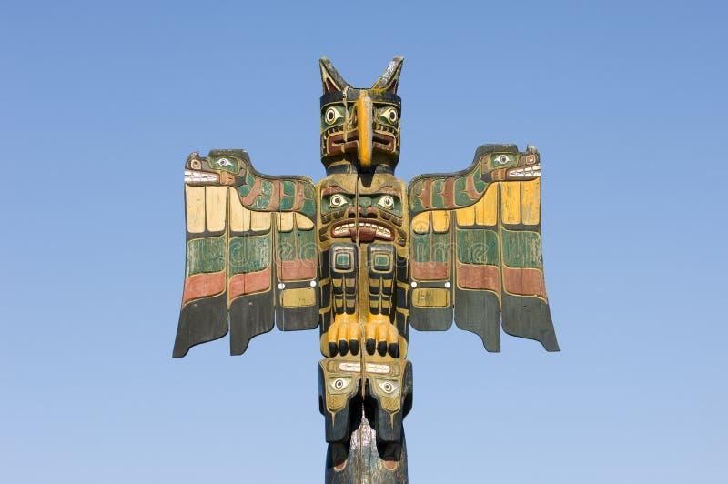 totem för alaska polserie royaltyfri foto