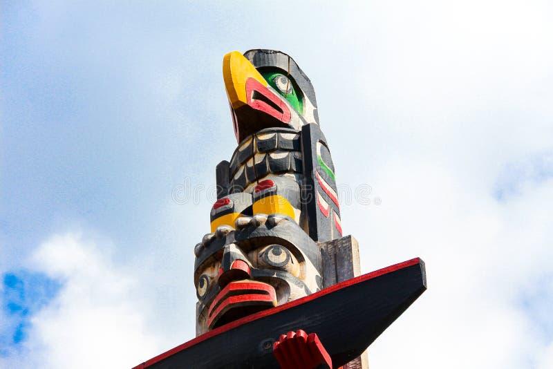 Totem i den Victoria staden arkivbilder