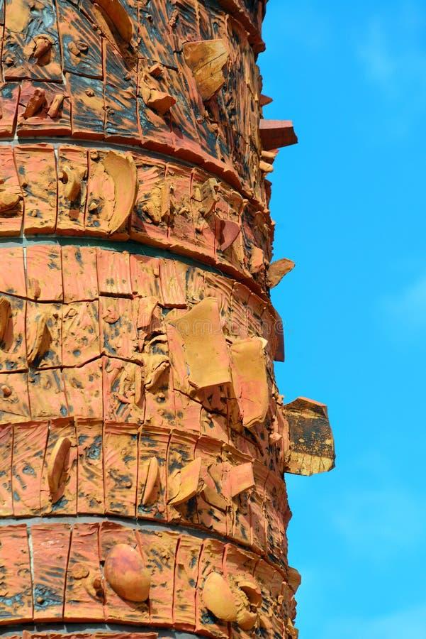 Totem i gamla San Juan arkivbild