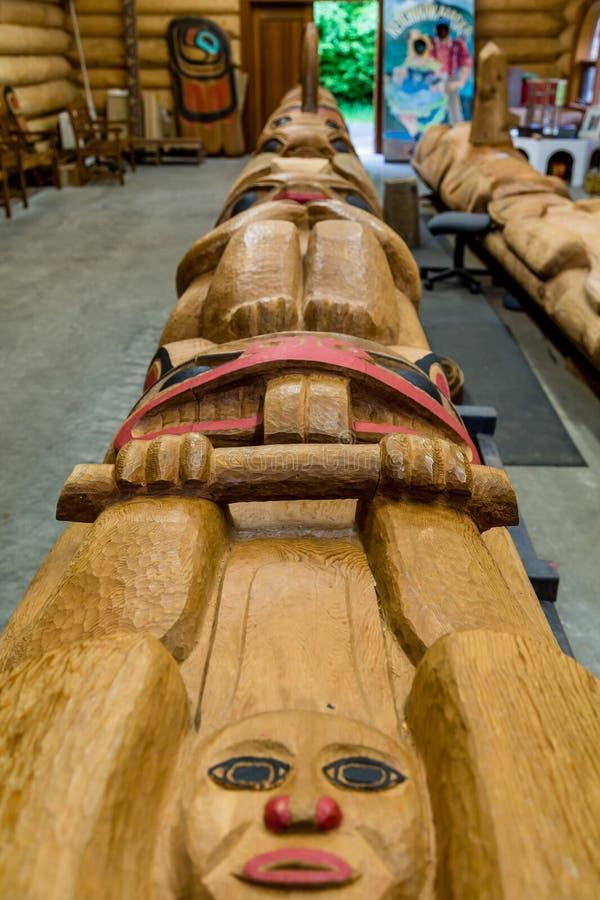 Totem i Workshop& x27; arkivbilder