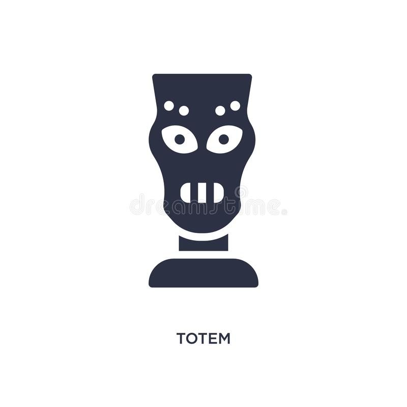 totem icon on white background. Simple element illustration from stone age concept vector illustration