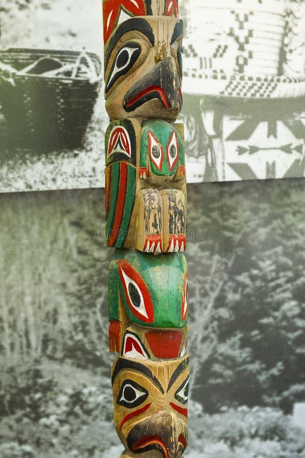 Totem - Kanada arkivfoto