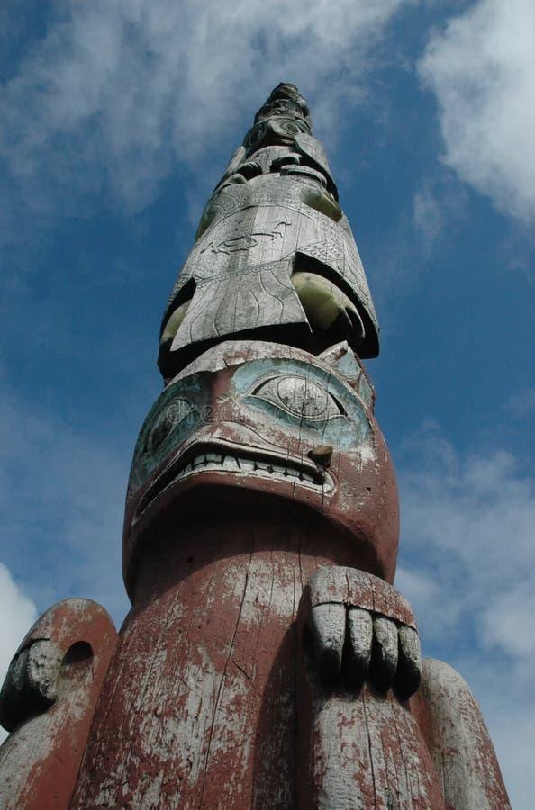 Totem nativo Sitka Alaska fotografia de stock royalty free