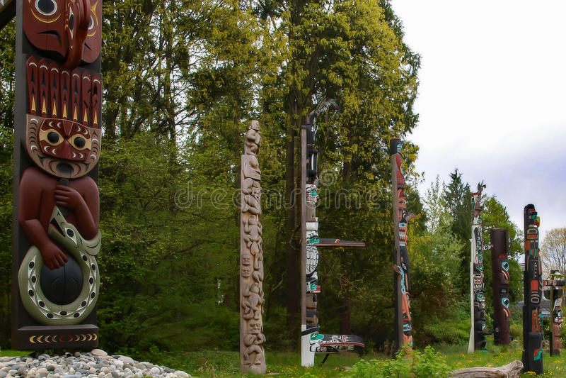 Totem nell'Alaska immagine stock libera da diritti