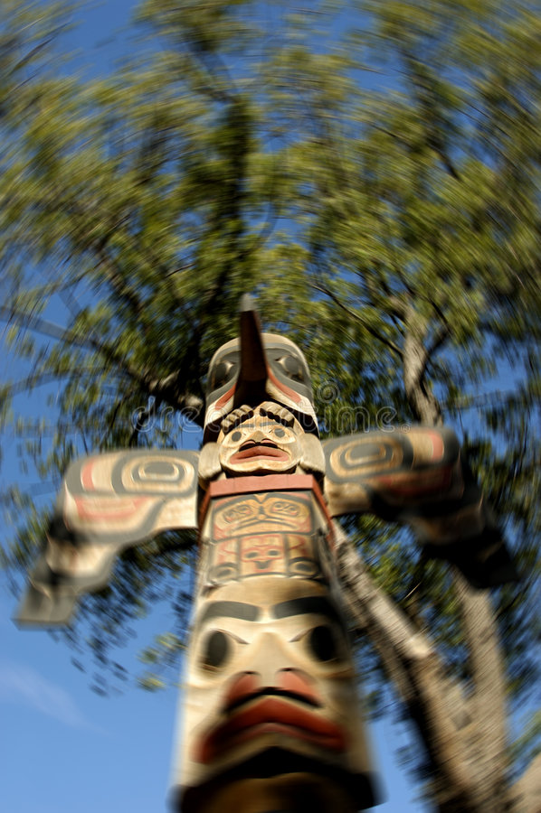 Totem palo immagine stock libera da diritti
