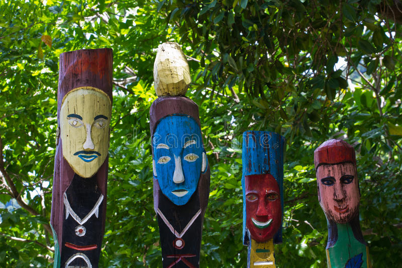 Totem palo di Moken fotografia stock libera da diritti