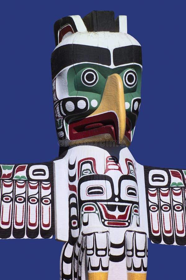 Totem palo - sosta di Stanley - Vancouver - il Canada immagini stock libere da diritti